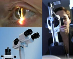 Advanced eye care showing glaucoma testing